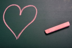 Heart and chalk